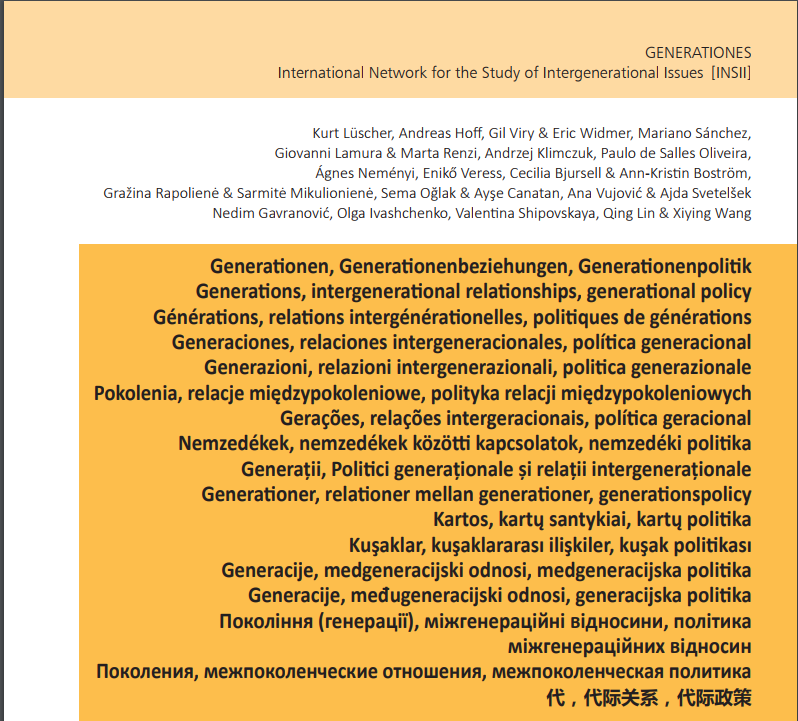 Generations, intergenerational relationships, generational policy: A multilingual compendium - Edition 2017